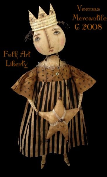 Veenas Mercantile Primitive Doll Patterns by Kim Kohler