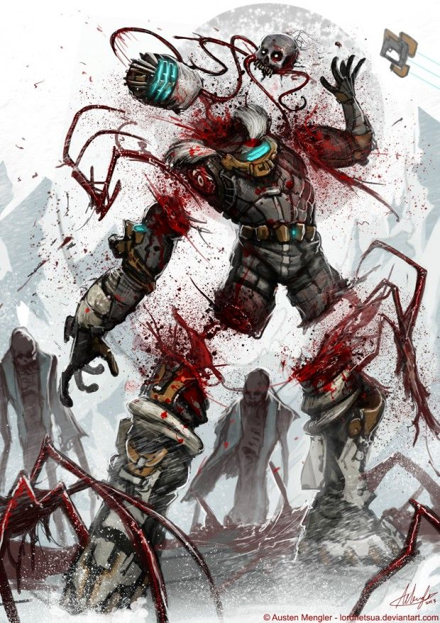 Dead Space 3 – Divided Teamwork, Dead Space, Fan Art, Games, Paintings & Airbrushing