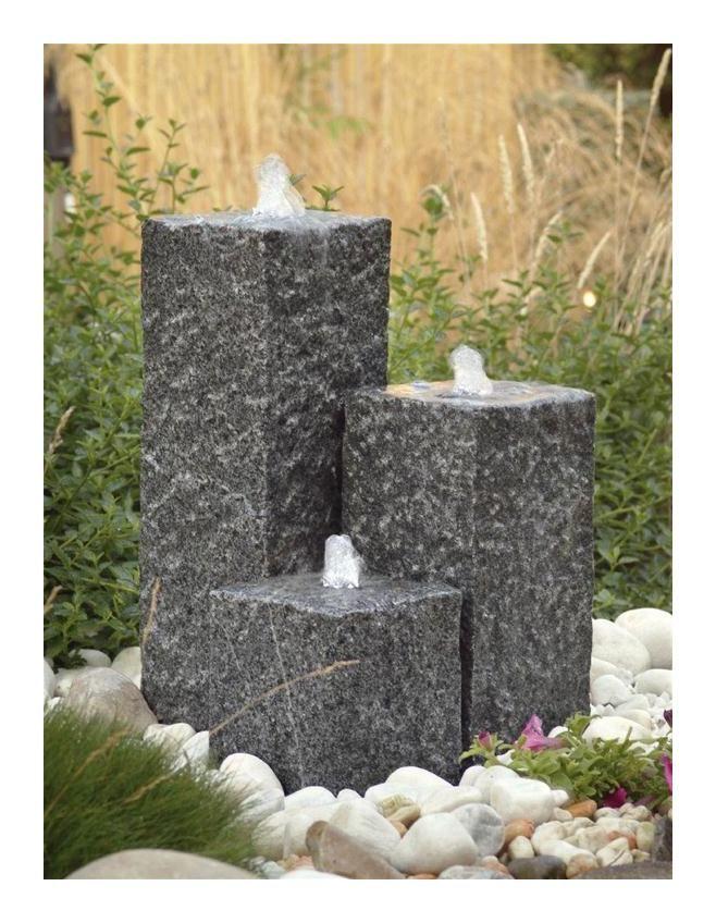 Gartenbrunnen Springbrunnen Ubbink Acquaarte Siena Granit Grau