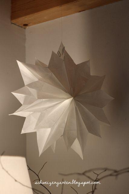 Ein Schweizer Garten: DIY - schneller Papierstern aus Butterbrottüten