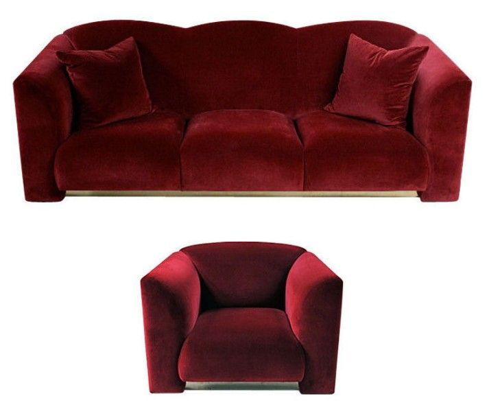 Chesterfield Sofa We offer this beautiful Deco style sofa and matching armchair