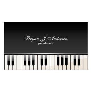 Cartão de visita do professor de música do piano