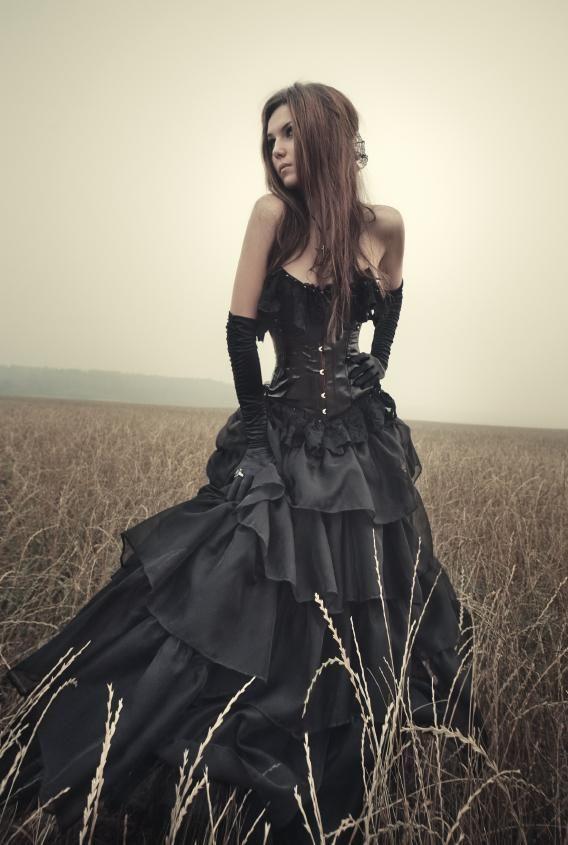 Gothic Prom Dress Design Ideas Black Wedding Gowns