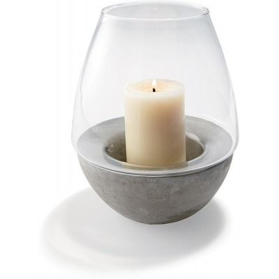 Concrete Base Hurricane Lamp - Kmart $10 each