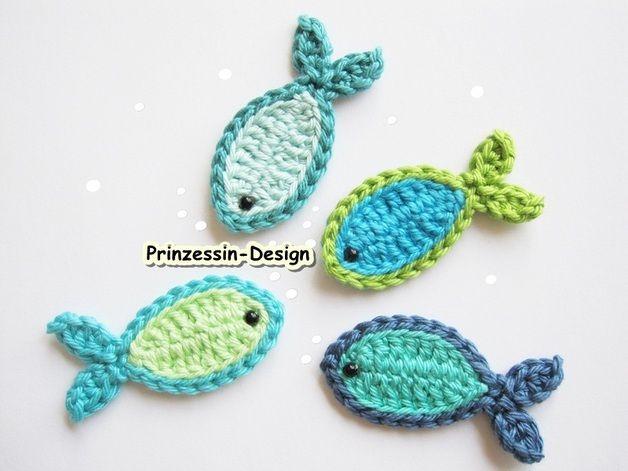 Appliqués à coudre, Fische est une création orginale de Prinzessin-Design sur DaWanda