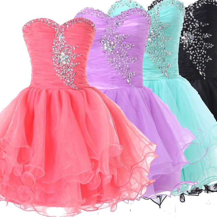 XMAS CHEAP Sexy Girls Short Homecoming Gowns Evening Prom Masquerade Party Dress #Unbranded #BallGown #Cocktail