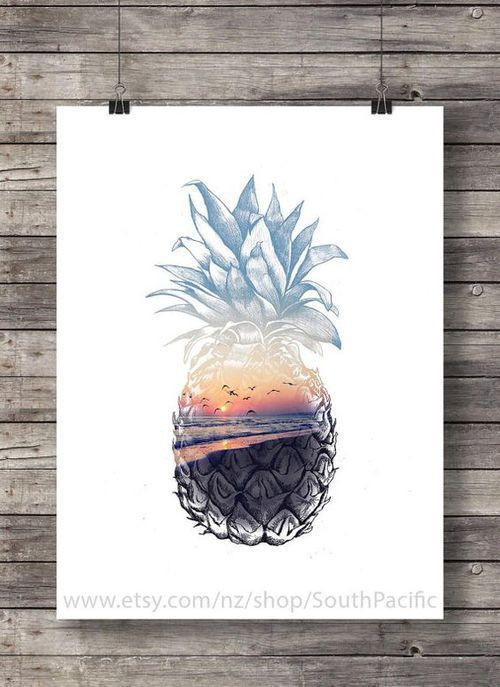 Drawing | Sunset | Pineapple