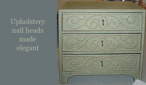 Nomadic Decorator | Nail Head Trim Patterns | http://nomadicdecorator.com