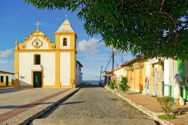 Arraial d'Ajuda city center, Bahia - Brazil