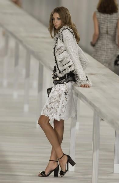 Chanel, I like the lace skirt.