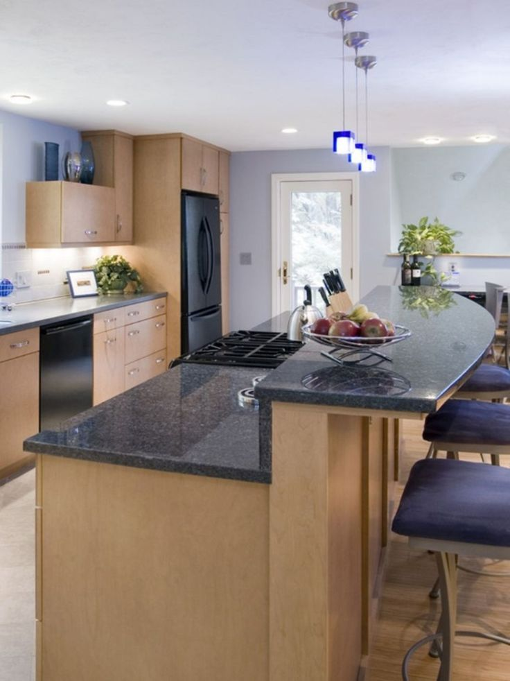 how to decorate a long kitchen island
