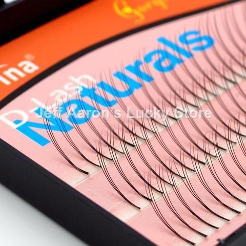 d41f3327bc3 3PCS 135 Strips 3D Individual False Eyelash Fake Eyelashes Extension Strips  8mm/10mm/12mm Non Knot NAVINA D-Lash W Lash 3G135FK