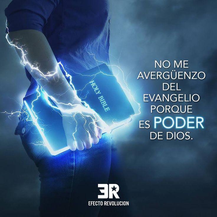 Romanos 1:16 Porque no me avergüenzo del evangelio, porque es poder de Dios para salvación a todo aquel que cree; al judío primeramente, y también al griego.♔