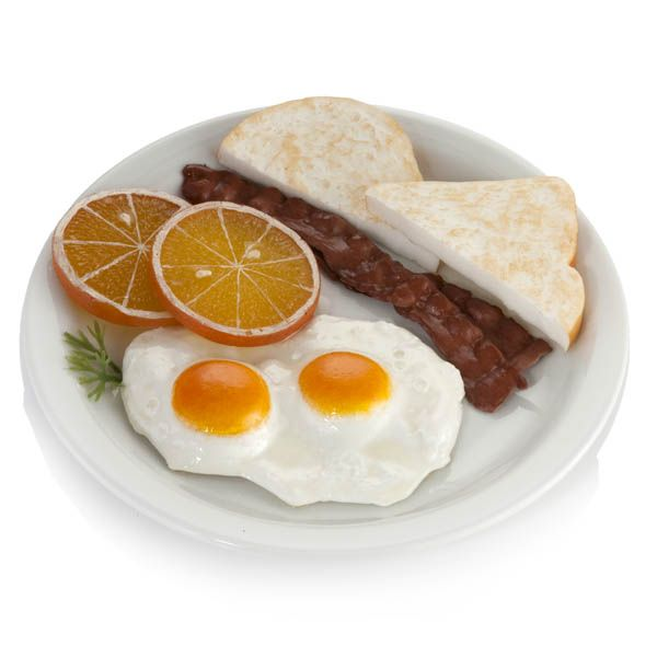 Breakfast Plate - Bacon, Eggs And Toast