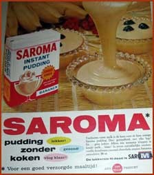 Pudding without cooking! Destijds in vele smaken te verkrijgen! heel lang geleden, hoor!