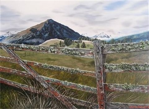Glenorchy, Rees Valley : Oil on Belgian Linen  400mm high x 560mm wide  SOLD