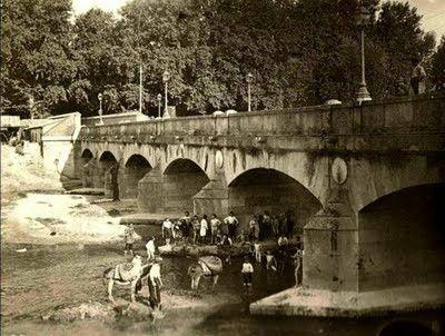 Antigua foto del Puente de Segovia MADRID