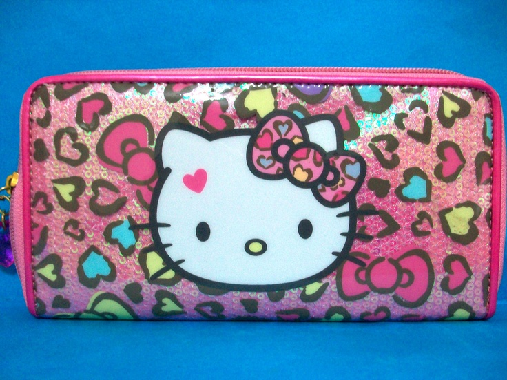 Hello Kitty Sequin Long Wallet Purse Ebay