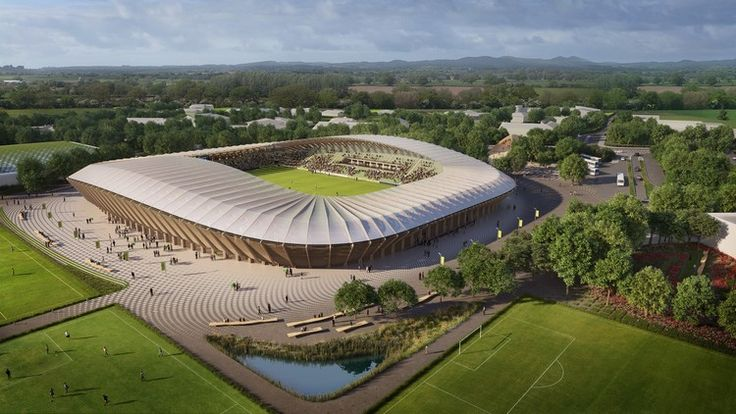 Forest Green Rovers football club in Stroud by Zaha Hadid Architects,