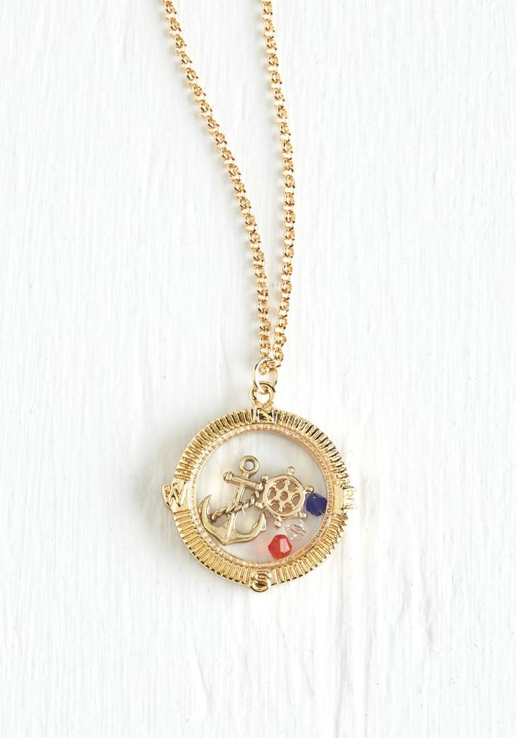 At the Helm of Charm Necklace, @ModCloth