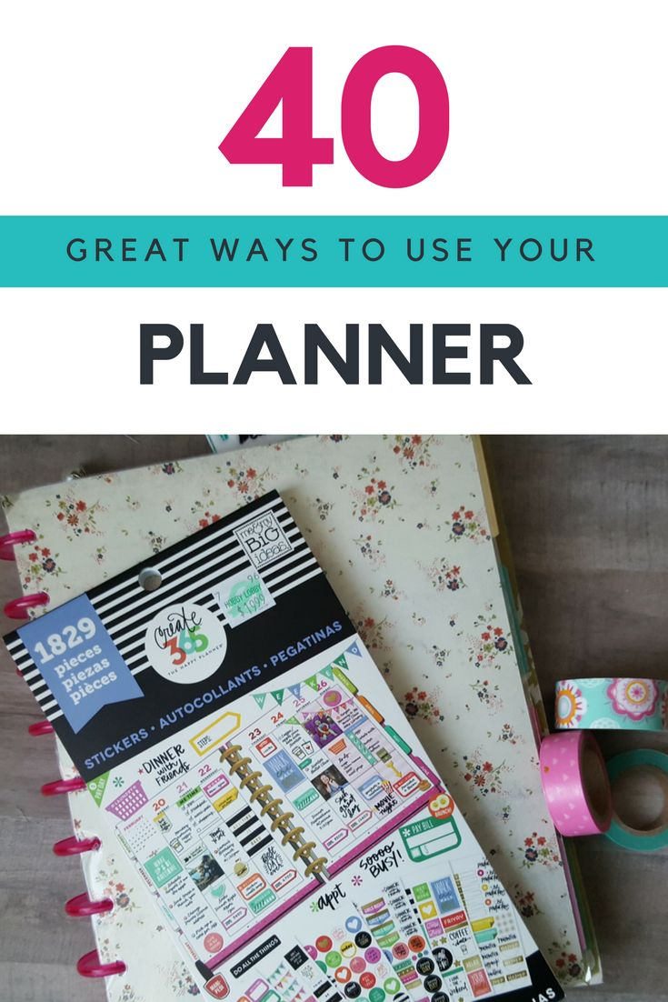 40 great ways to use your planner from @goodstuffmama - happy planner, erin condren, filofax  - here are brilliant tips to use any planner.
