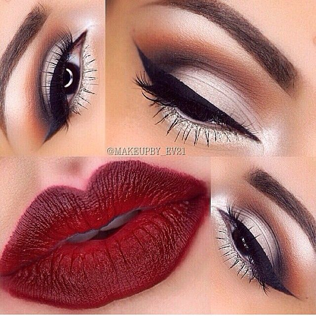 Make-up Ideas with Red Lipstick http://mymakeupideas.com/makeup-ideas-with-red-lipstick/