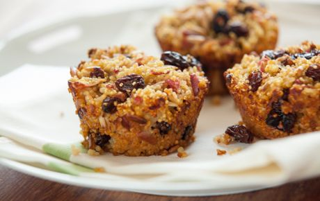These tender raisin-stuffed cakes have a delicious toasted millet crust when they've finished baking.