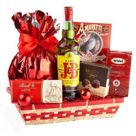 Cos cadou CHRISTMAS PARTY rosu
