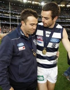 """Thanks Matthew Scarlett!!! The big fullback retired today. My favourite memory is AFL journalist Caroline Wilson saying on the Offsiders program on ABC TV in 2007: """"If Scarlett doesn't win the Brownlow this year it proves fullbacks can't win it."""""""