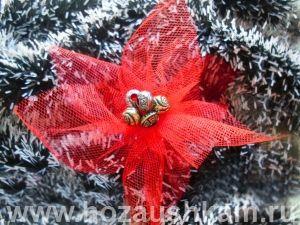 Рождественский цветок своими руками с фото