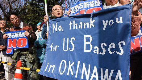 Okinawa files new lawsuit to block relocation of US Marines base – local media https://tmbw.news/okinawa-files-new-lawsuit-to-block-relocation-of-us-marines-base-local-media  Published time: 24 Jul, 2017 11:03Edited time: 24 Jul, 2017 11:05The Japanese prefecture of Okinawa filed a new lawsuit against the government demanding a halt to construction work for the relocation of the US Futenma base, local media report. The relocation has been the target of protests among locals.The prefectural…
