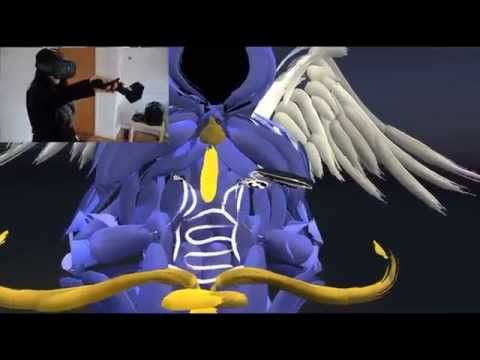 Artist painting in VR - HTC Vive & Tilt Brush -  taking inspiration from Tyrael from the Diablo series.