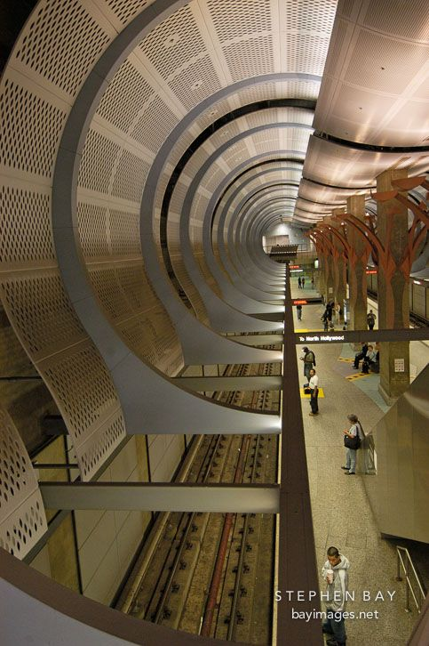 Hollywood and Highland metro station. Los Angeles, California, USA.
