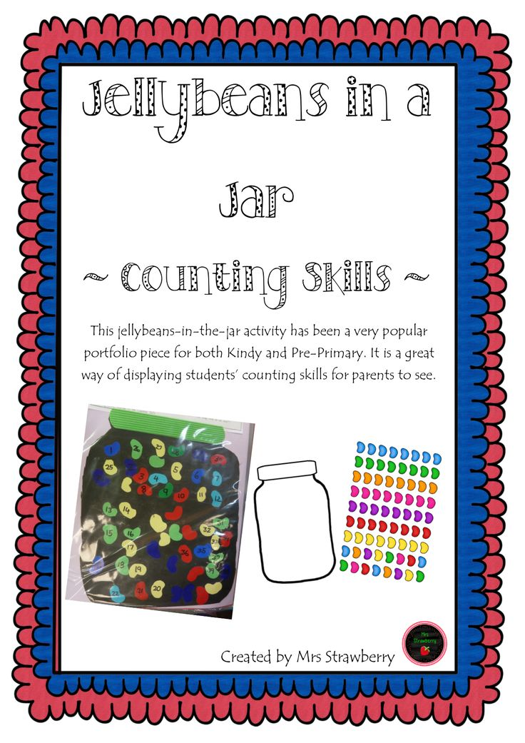 This jellybeans-in-the-jar activity has been a very popular portfolio piece for both Kindy and Pre-Primary. It is a great way of displaying students' counting skills for …