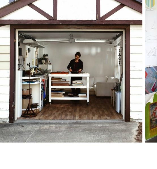 The ultimate woman cave converted garage into studio for Garage with studio