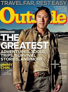 Outside Magazine, April 2011, featuring photographer and adventurer Jimmy Chin
