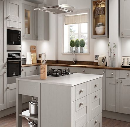 Wickes milton grey kitchen kitchen home for Wickes kitchen cupboards