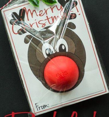 Rudolph the bubblegum (or eos) nose reindeer  / Rudolf rénszarvasos rágógumi - szappan csomagolás / Mindy -  creative craft ideas