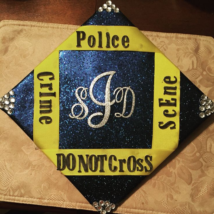 My Criminal Justice Graduation Cap :)