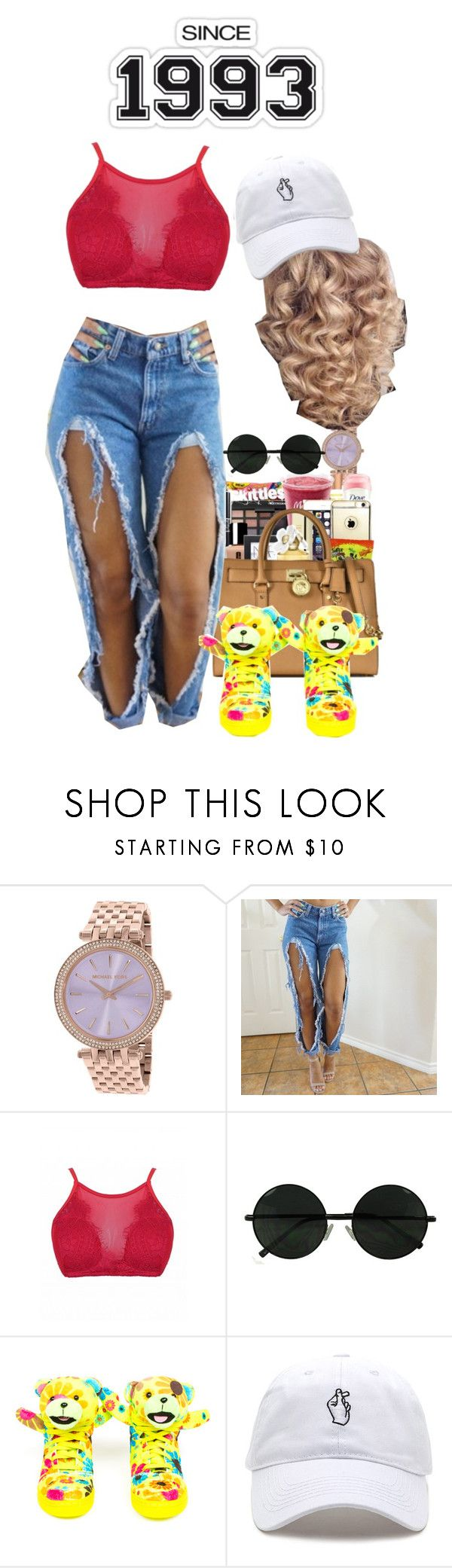 """""""6/29th/16 """"Lil Debbie X Damn"""""""" by tymeshac ❤ liked on Polyvore featuring Michael Kors and adidas"""