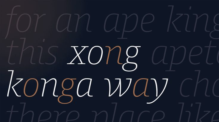 Harrison Serif Pro: Along with unpretentious slanted oblique characters (g, o, x), the italics include range from cursive shapes (a, k, n) and playful and expressive letters (w, y).