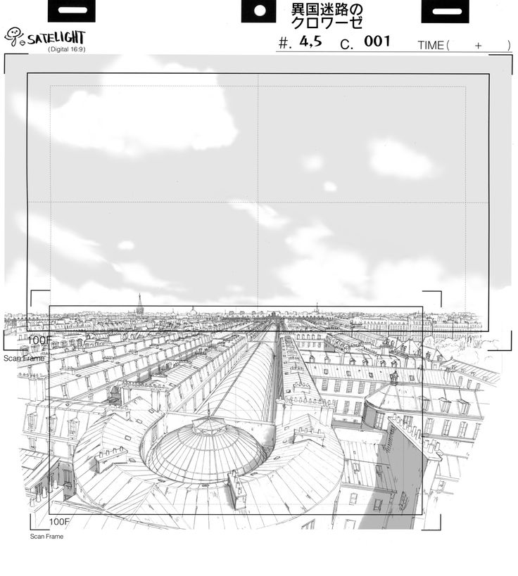 "Some layout work for ""Croisée in a foreign labyrinth"" (Satelight/2010). Drawing…"