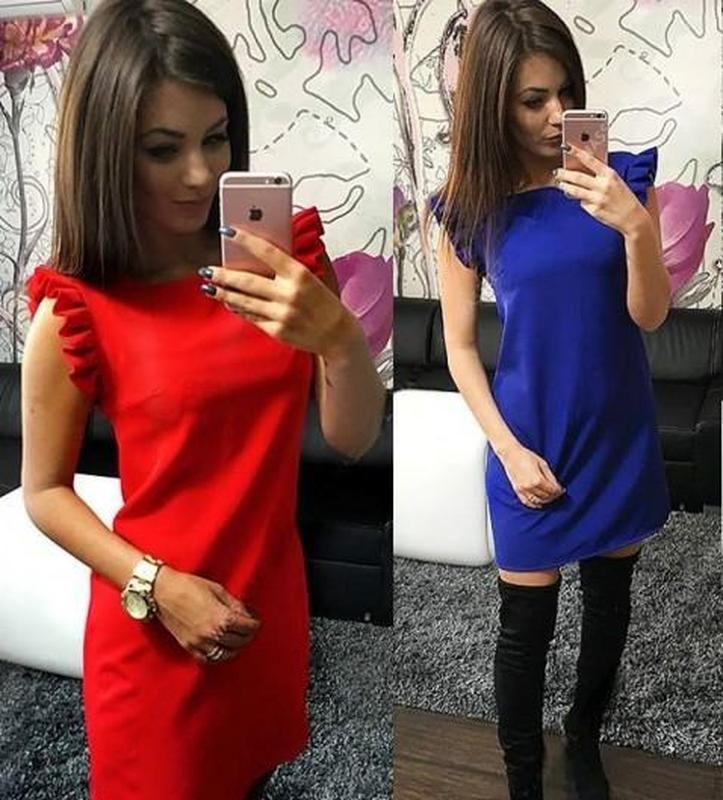 Красное алое новое нарядное платье с коротким рукавом с крыльями р.l-m