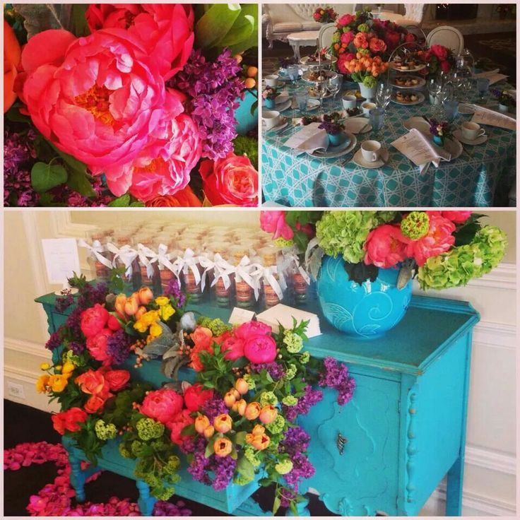 Beautiful peonies & vibrant color combo