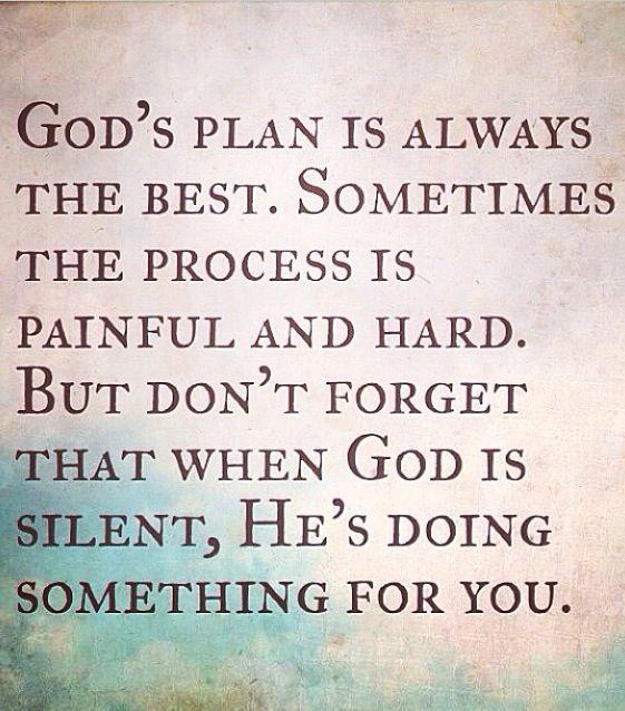 God's plan..