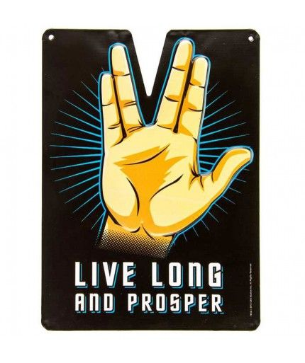Live Long And Prosper Embossed Tin Sign