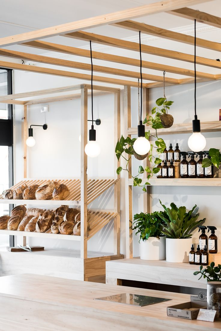 The Clean Food Store by Studio Atelier - Retail fit out, playing with greenery and light timber tones