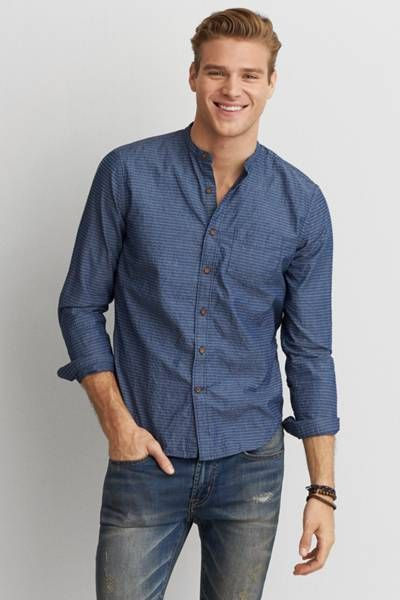 AEO Banded Collar Shirt  by AEO | Iconic