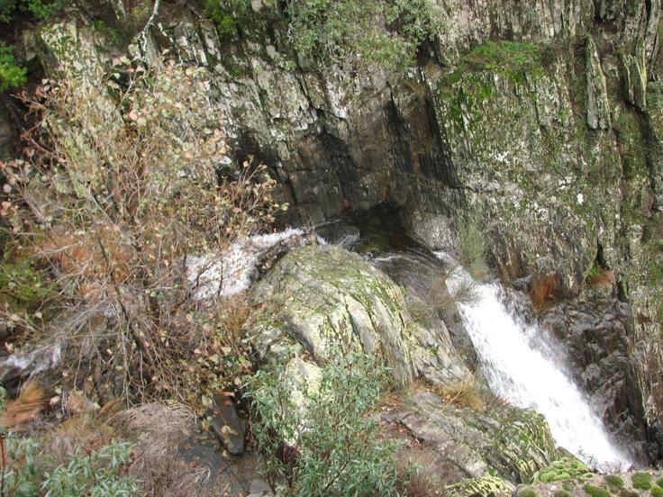 El Chorreón del Tajo (río Alavea) visto desde arriba.