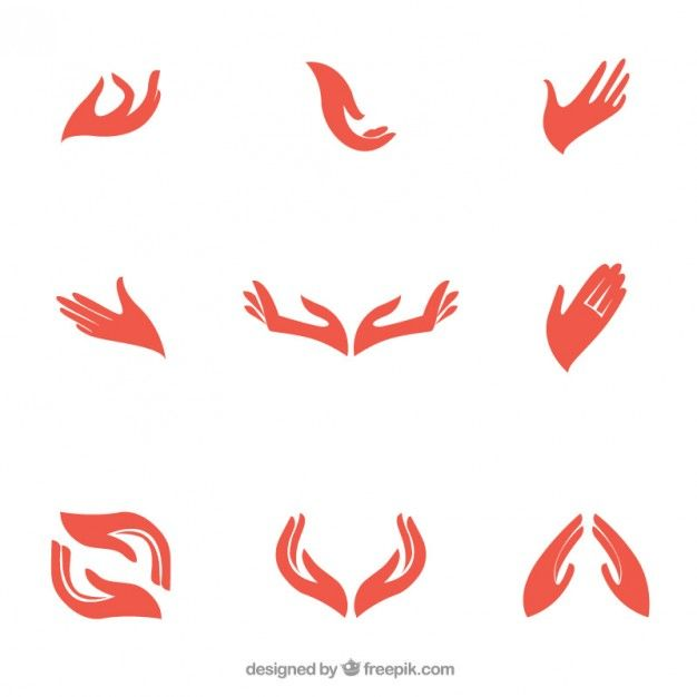 Hands logo Free Vector